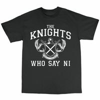 Knights That Say Ni T Shirt 100% Cotton Monty Python And The Holy Grail2019 fashionable Brand 100%cotton Printed Round Neck T sh