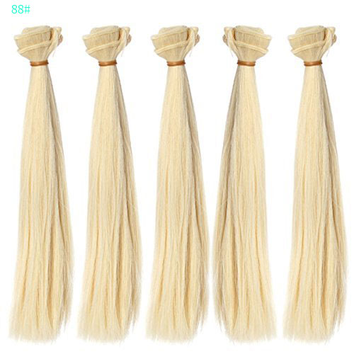 5pcs/lot 25*100 cm Natural Brown Blonde Hair Extensions Straight doll hair for 1/3 1/4 1/6 BJD/SD/Bly the dolls DIY Wigs