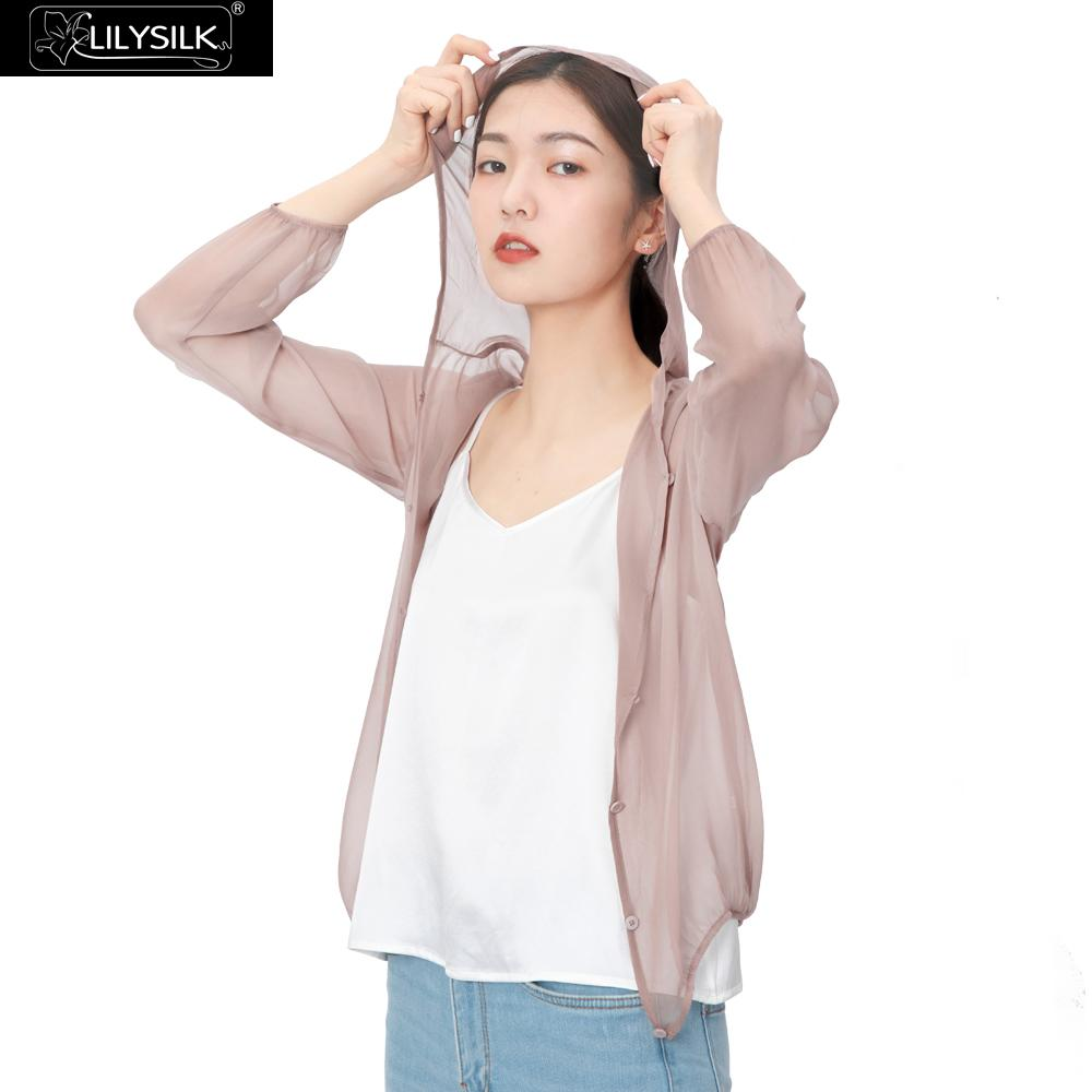 LILYSILK Silk Jacket Sun Protection Performance Women New Free Shipping
