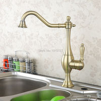 New Arrival Solid Brass Deck Mounted Single Handle Kitchen Sink Mixer Faucet Antique Bronze High Quality