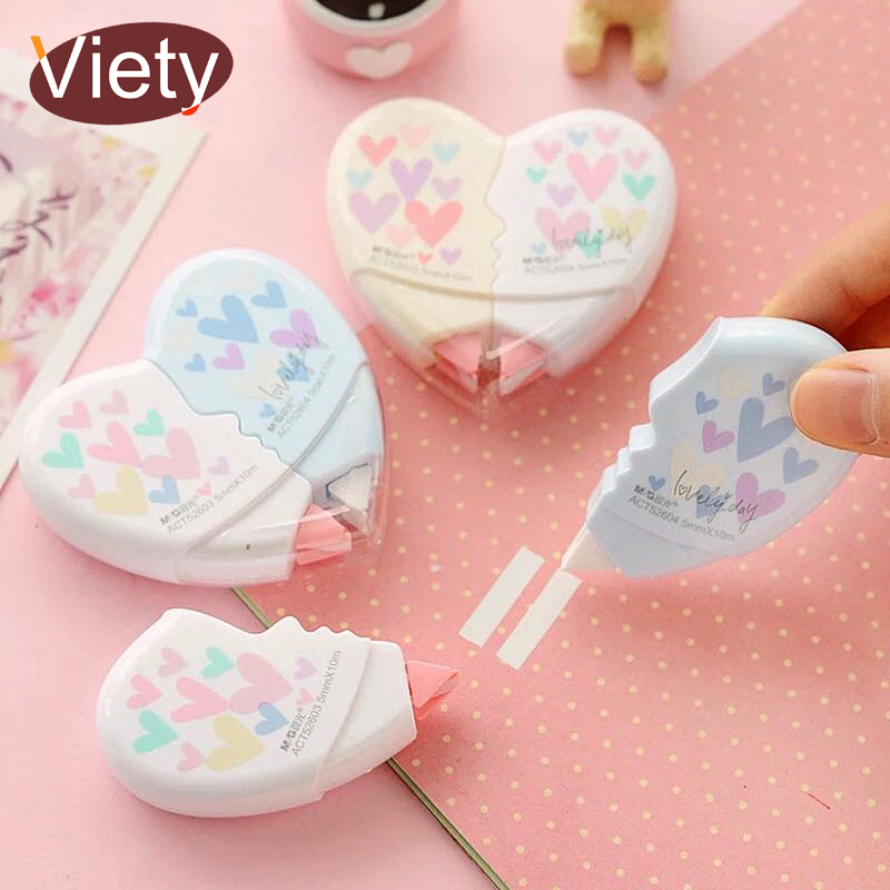 2 pcs/pair Love Heart correction tape material escolar kawaii stationery office school supplies papelaria 10M image