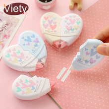 hot deal buy 2 pcs/pair love heart correction tape material escolar kawaii stationery office school supplies papelaria 10m