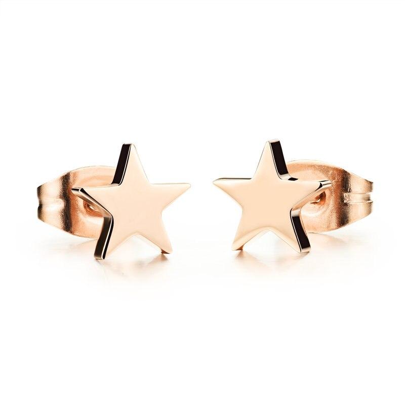 Мода, цвета розового золота ювелирные изделия, подарки, звезды, женские шпильки, 316 titanium стали вакуумные plating.297