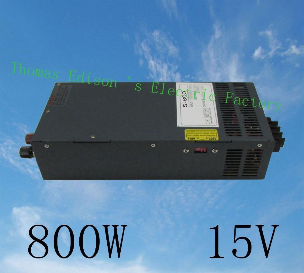 DIANQI power suply 15v 800w 15v  54A ac to dc power supply ac dc converter  high quality input 110v 220v output 15v S-800-15 dianqi 400w 36v 11a single output switching power supply high quality power supply 36v 400w ac to dc power supply s 400 36