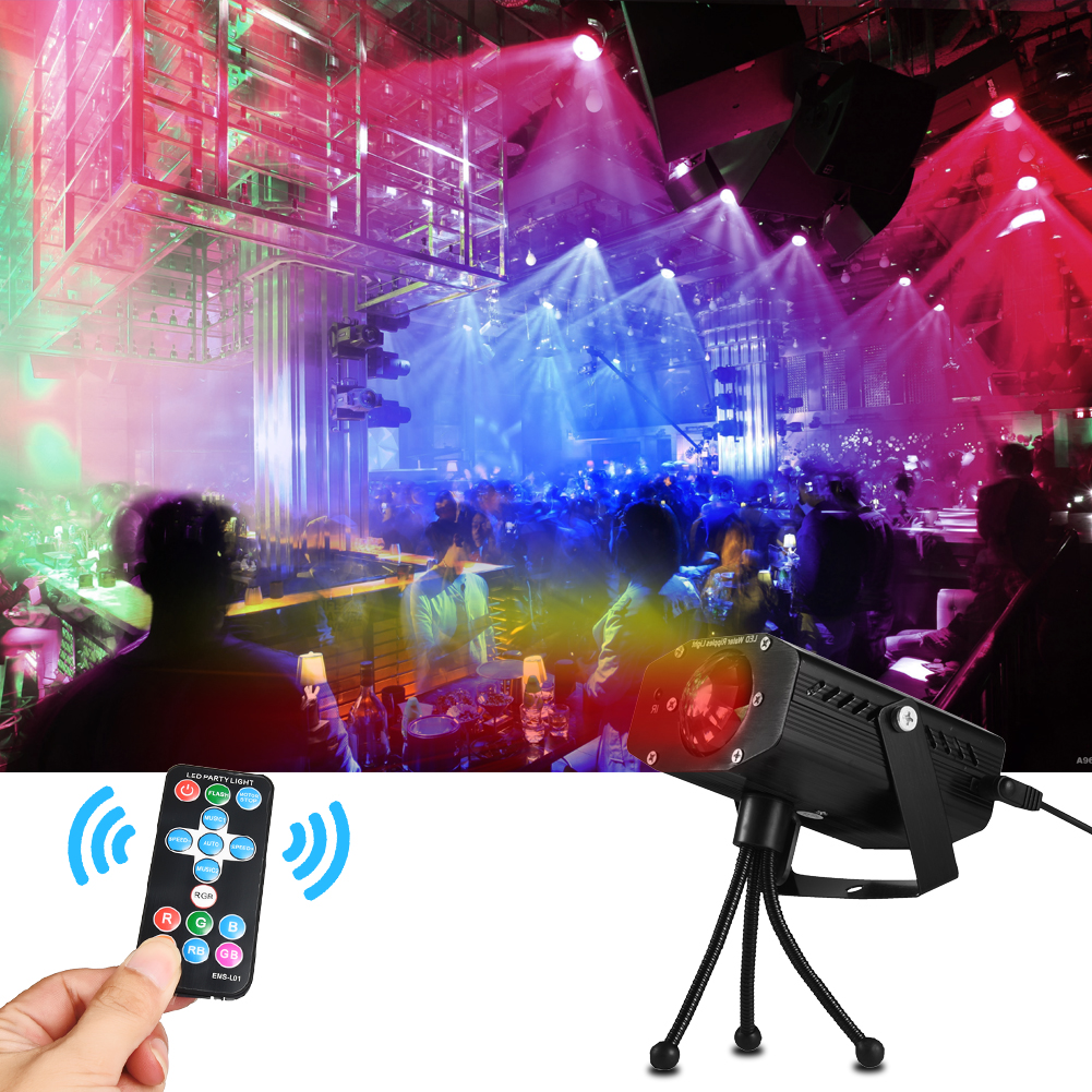 Image 5 - LEDGLE Portable Water Wave Lights Compact Ripple Projector with Remote Controller 3 Lighting Modes Various Color Sound Activated-in LED Night Lights from Lights & Lighting