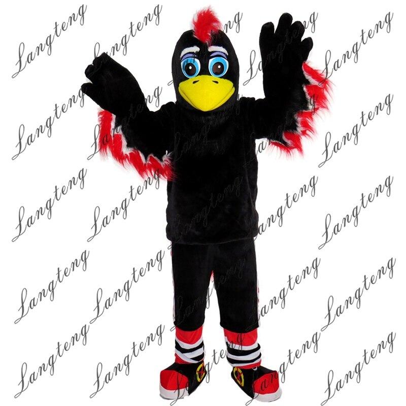 Offre spéciale Costume de mascotte aigle noir taille adulte tenue d'halloween Costume de déguisement livraison gratuite 2019new