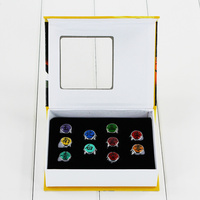 10pcs Set Japan Anime Naruto Members Finger Rings PVC Collectible Rings Toys Free Shipping