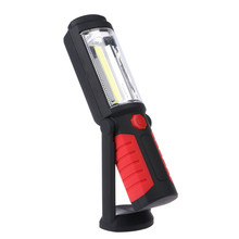 High Quality 360 Degree COB LED Magnetic Work Light Stand Hanging Hook Flashlight Red/ Blue Outdoor Light