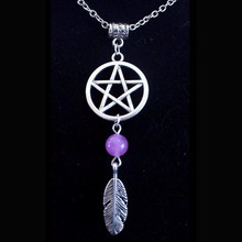 Design Necklace For Women Dreamcatcher Feathers Wicca Dream Catcher Pendant Collier Choker Bijoux Fashion Jewelry