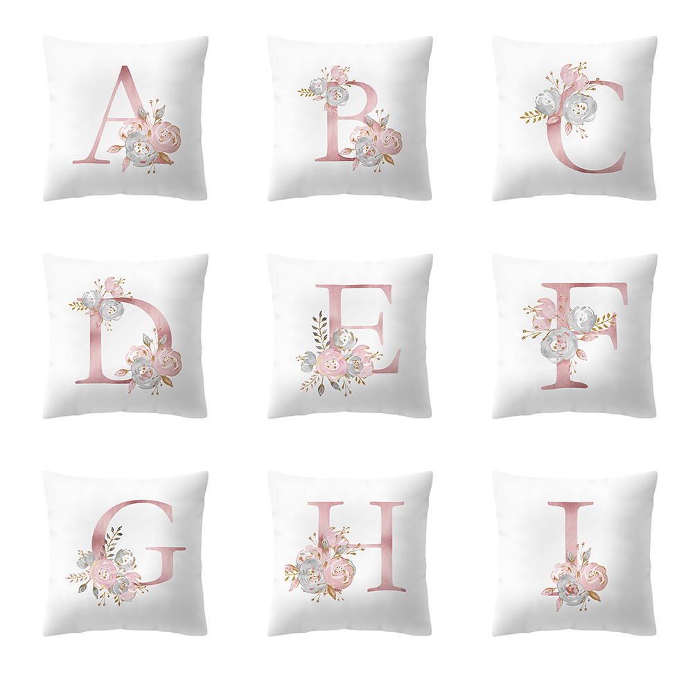 Cushion Cover 45x45cm Kinder Zimmer Decoration Brief Kissen English Alphabet Pillowcases 2019 Pillow Cover Cojines Pillow Case Cushion Cover With Traditional Methods