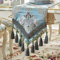 American Thick Jacquard Embroidered table flag Double layer fabric Table Runner Tablecloth Table Runners Table Flag Dinner Mats