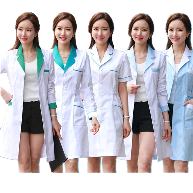 b6f7ab024bc61 10Color New Nurse Uniform Women Medical Clothing Summer Hospital Doctor  Clothes Pharmacy Lab Coat Work Wear Medical-in Nurse Uniform from Novelty &  Special ...