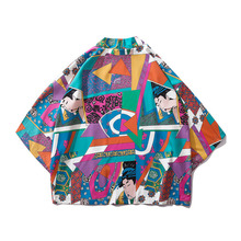 #0249 Summer 3d Japanese Streetwear Kimono Beach Shirt For Men Cardigan Hawaiian Women Unisex Printed Shirts