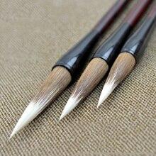 3pcs Top mixed hair calligraphy brush pen set Chinese woolen weasel hair Painting brush for artist  regular script art supplies