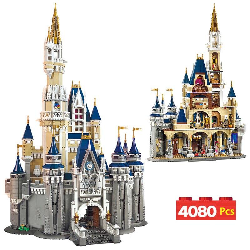 Девушка серии Модель Building Block город Street View комплект LegoINGLYS 71040 Принцесса замок кирпич Развивающие игрушки для детей