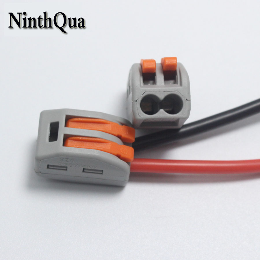 NinthQua 4pcs 2Pin Universal Wire Quick Connector 32A / 250V Terminal Splitter for 28AWG-<font><b>13AWG</b></font> <font><b>Silicone</b></font> <font><b>Cable</b></font> image