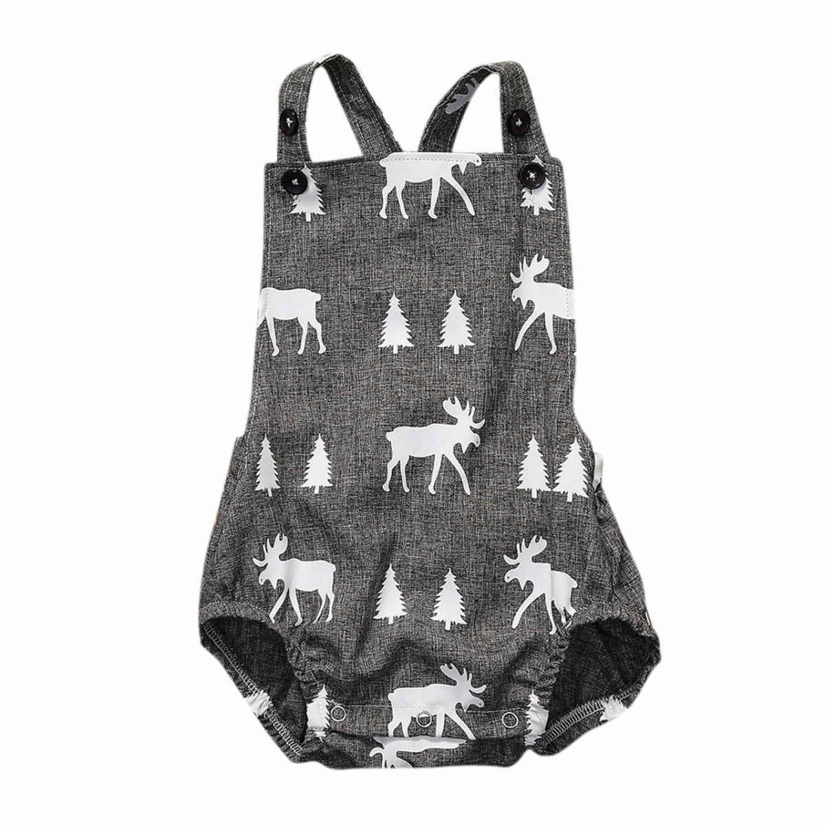 Cute Baby Romper Newborn Baby Boy Girl Fawn Clothes Sleeveless Deer Playsuit Romper Jumpsuit Outfit Sunsuit  0-2Y
