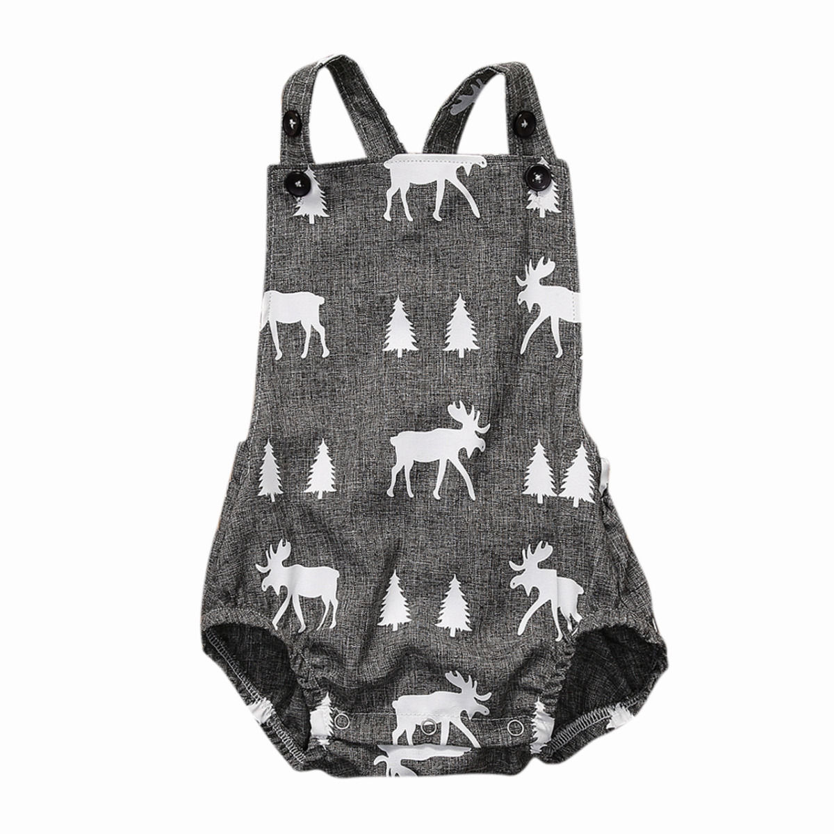 Cute Baby Romper Newborn Baby Boy Girl Fawn Clothes Sleeveless Deer Playsuit Romper Jumpsuit Outfit Sunsuit 0-2Y gentlemen style striped baby boy romper playsuit
