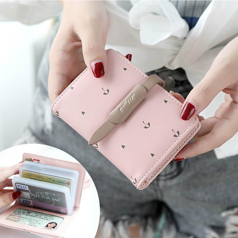 Nouveau Porte-Carte de crédit Porte Carte frais PU cuir Porte-Carte d'identité femmes Carte Bancaire protecteur permis de conduire portefeuille