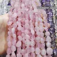 Großhandel Unregelmäßigen Kies Form 8-12mm Natürlichen Madagascar Rose Stein Quarz Perlen Für Die Schmucksachen DIY Armband Halskette