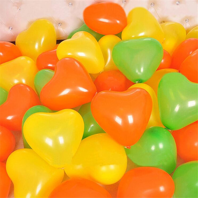 Romantic Heart Shaped Latex Balloons 10 pcs Set