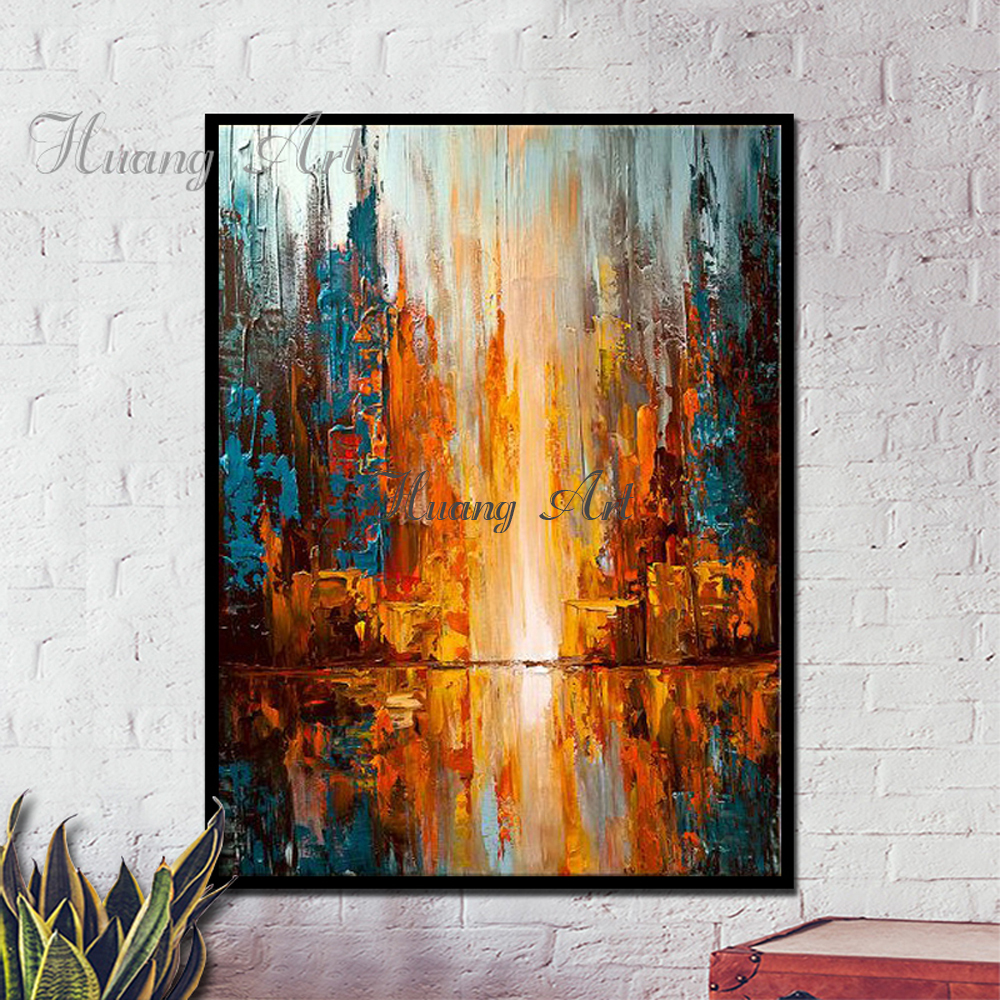 Wall art picture abstract hand painted oil painting for Minimalist wall painting