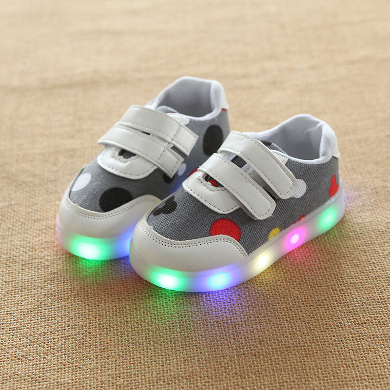 2018 All colorful dots unisex girls boys shoes Elegant cool baby casual shoes Hook&Loop sports tennis baby sneakers toddlers