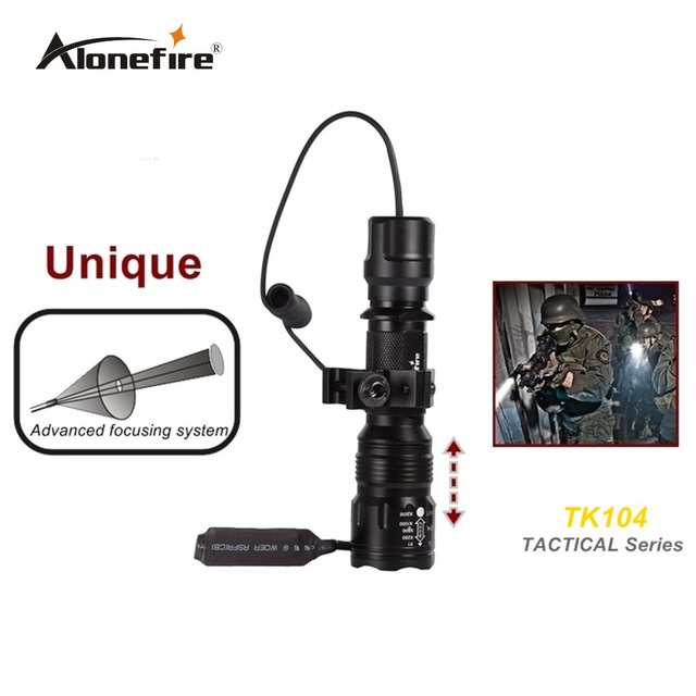 TK104 L2 LED Tactical Gun Flashlight 2200LM 5mode Pistol Handgun Torch Light Lamp Taschenlampe+gun scope mount+remote switch