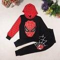 Meninos treino Outono Spiderman 2 pçs/set ternos conjunto de roupas infantis roupas infantis menino crianças meninos casaco + calças ternos