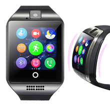 Maxinrytec Q18 Smart Watch Camera TF SIM Card Phone Watch Sync SMS Facebook Twitter Bluetooth Smartwatch for Samsung Android