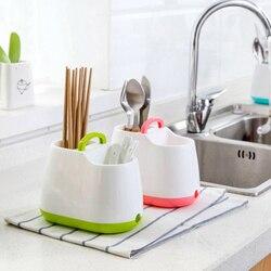 Strona główna zastawa stołowa do kuchni stojąca suszarka pałeczki łyżka widelec schowek uchwyt na sztućce odpinany filtr siatkowy|strainer|strainer spoon  -