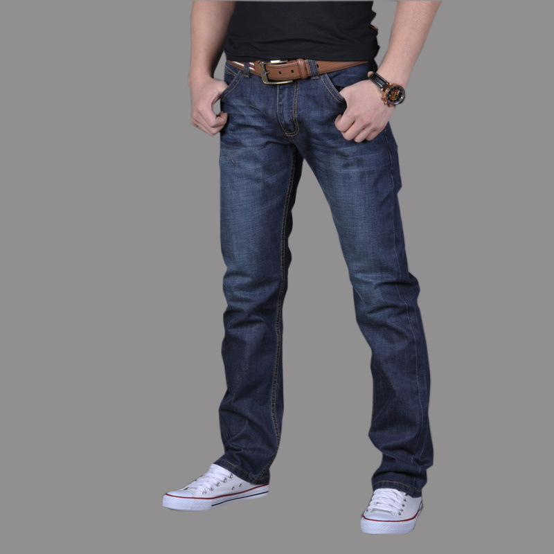 2017 New Spring and Autumn Men Jeans Good Quality Male Easy Straight Teenagers Trousers Waist Men's Denim Jeans