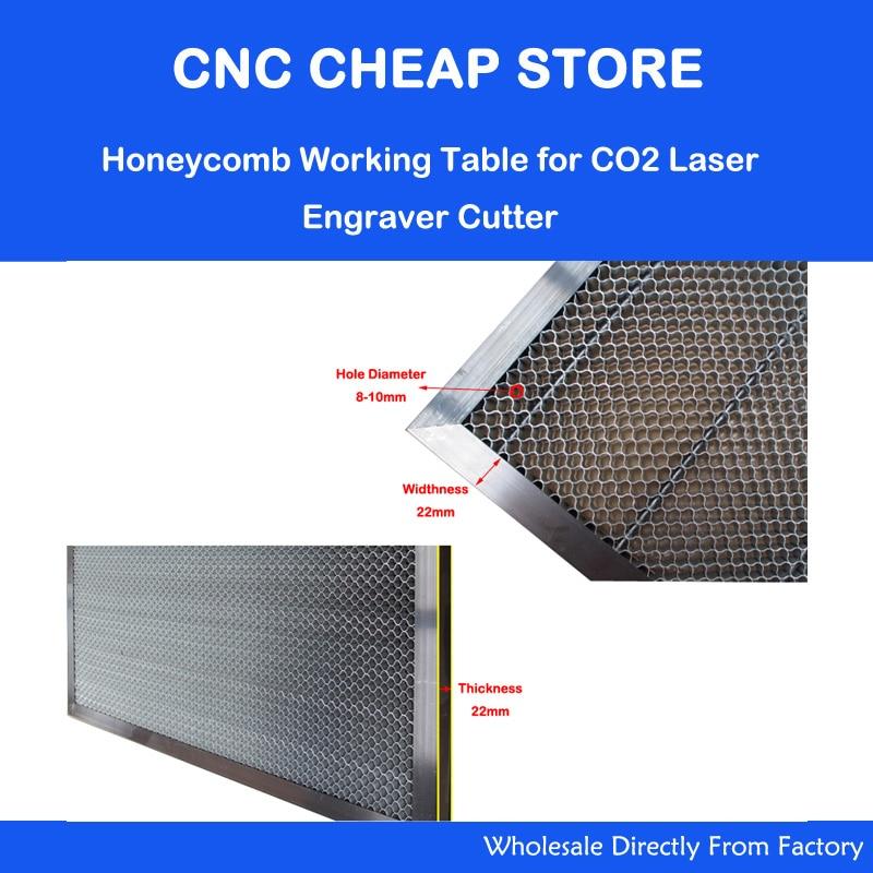 New HQ CO2 50W 60W Laser Engraver Cutter Stamp Honeycomb Work Table Platform 400x600mm 4060 цена