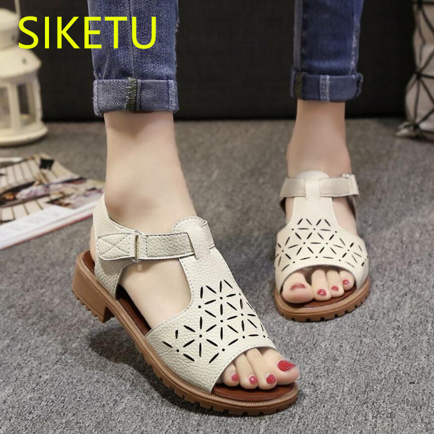 SIKETU Women shoes Free shipping 2017 Summer sandals Fashion casual shoes student Flat shoes flat lx010 flip flop 2017 free shipping siketu spring and autumn women shoes fashion high heels shoes wedding shoes pumps g174 summer sandals