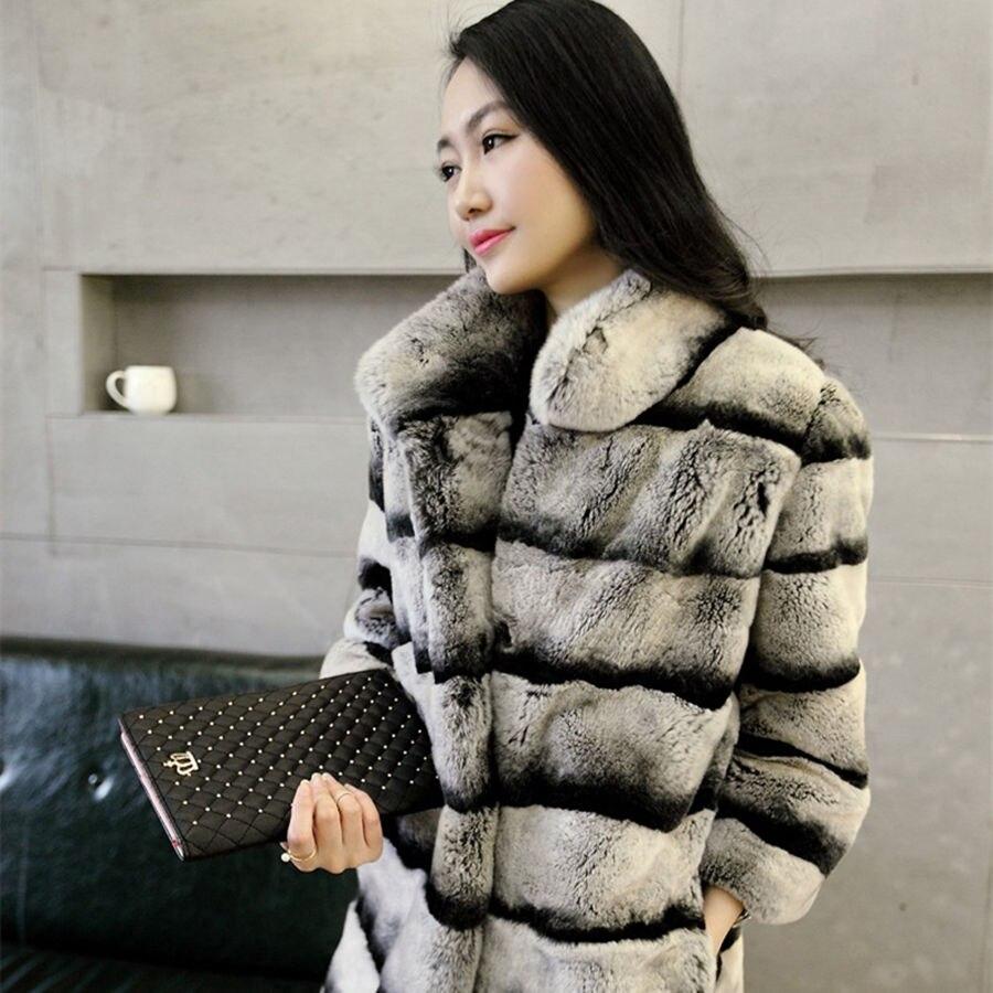 Chaleur Vraiment Lexus Rex manteau de fourrure Femme manteau De Fourrure De chinchilla