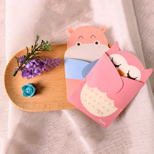 8pcs/lot Cartoon Animal Warm Hug Greeting Card Postcard Birthday Gift Card Set Message Card Letter Envelope Gift Card