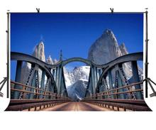 7x5ft Natural scenery Backdrop Dangerous suspension bridge natural background and Studio Photography Props