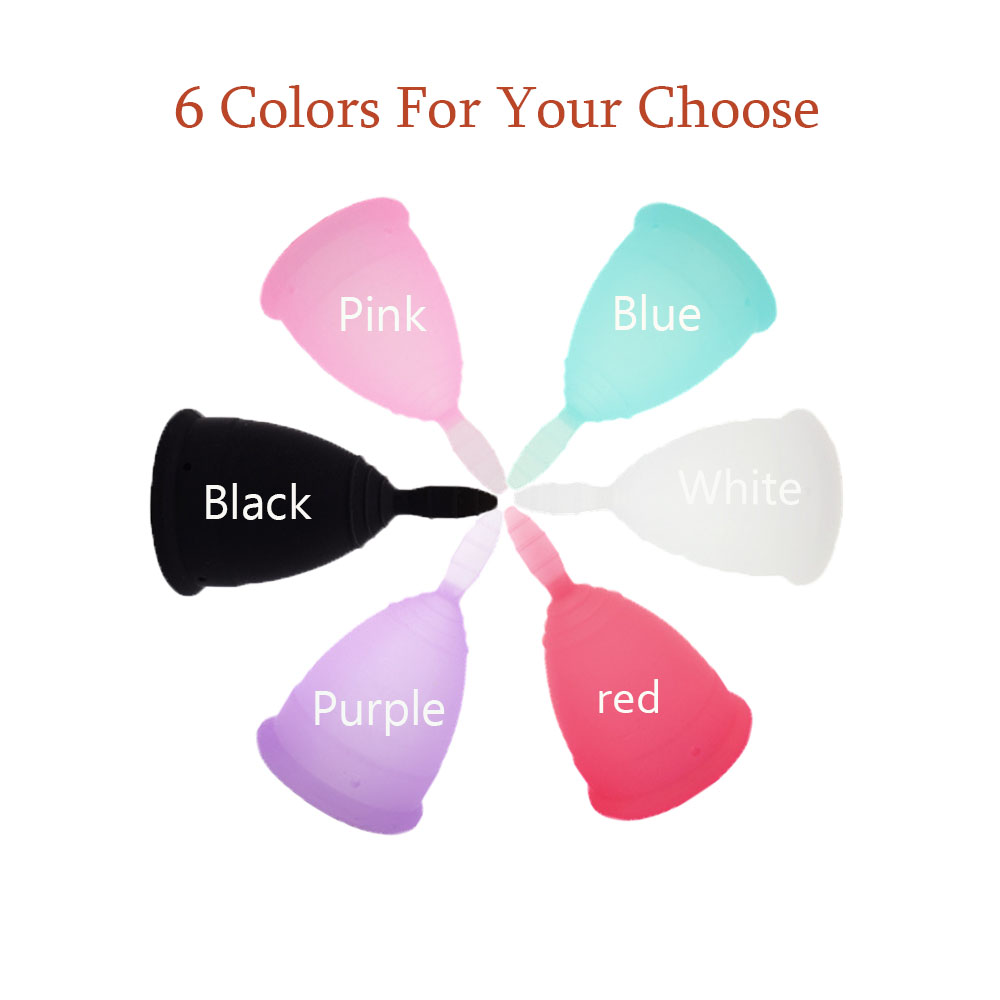 2019 Hot Sale 1PC Menstrual Cup For Women Feminine Hygiene Medical 100% Silicone Cup reusable and Comfortable Menstrual Cups