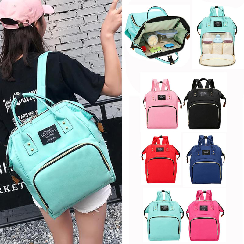 2019 Mummy Maternity Nappy Bag Large Capacity Mom Baby Outdoor Travel Diaper Bags Backpack For Baby Care Nursing Diaper Handbag