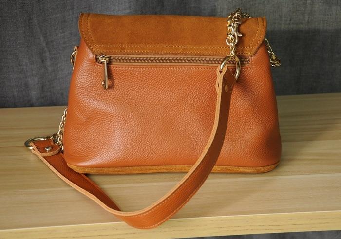 Women Genuine Leather Fringe Shoulder Bags Fashion Cow Suede Tassel Brown Chain Multi Pockets Crossbody Bucket Bags (9)