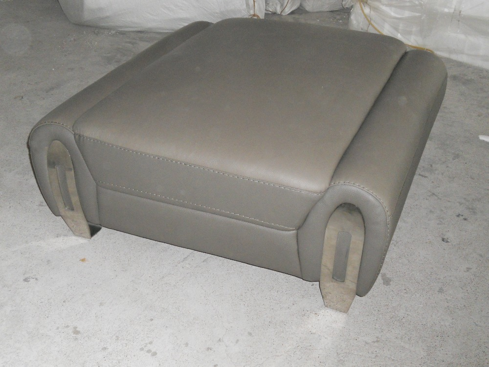 unique designer post modern style top graded cow real leather ottoman/stool  living room home furniture genuine leather stool - Unique Ottomans Promotion-Shop For Promotional Unique Ottomans On