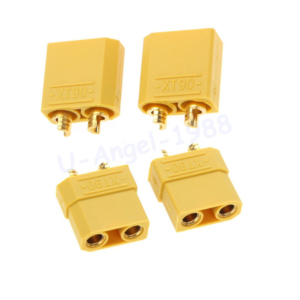 Image 3 - 100pcs/lot Amass XT90 XT90H Battery Connector Set 4.5mm Male Female Gold Plated Banana Plug (50 pair)-in Parts & Accessories from Toys & Hobbies