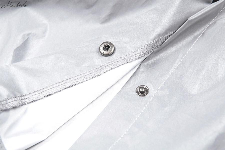HTB1y0NVX0fvK1RjSszhq6AcGFXa7 Macheda Fashion Women Reflective Turn-down Collar Buckle Drawstring Jackets Long Sleeve Cropped Coat Ladies Basic Jacket Ne'w
