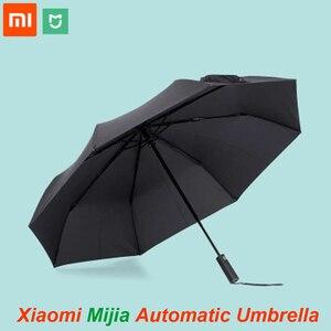Image 1 - Oryginalny Xiaomi Mijia automatyczny słoneczny deszczowy aluminiowy wiatroszczelny wodoodporny UV mężczyzna i kobieta lato zima