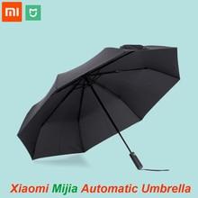 Xiaomi mijia, alumínio chuva sol automático original, à prova d água e de vento, masculino e feminino, verão