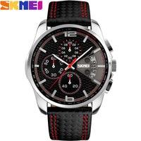 SKMEI 2016 New Popular Brand Men Watches Fashion Analog Quartz Watch 50M Waterproof Auto Date Black