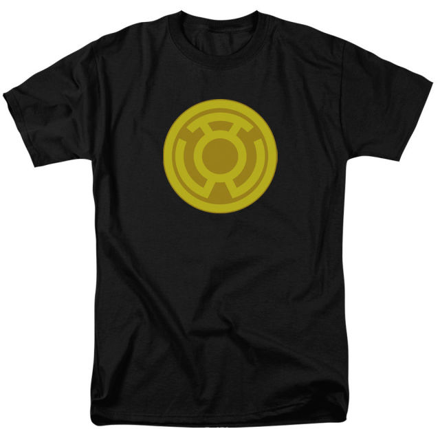 Green Lantern Yellow Lantern Symbol Licensed Licensed Adult T Shirt