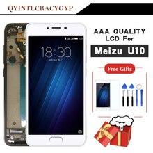AAA איכות לmeizu U10 מגע מסך Digitizer + LCD תצוגה עבור Meizu U10 5.0 אינץ נייד עם מסגרת משלוח חינם