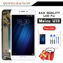 Jakość AAA dla Meizu U10 ekran dotykowy Digitizer + wyświetlacz LCD dla Meizu U10 5.0 cal telefon z ramą darmowa wysyłka