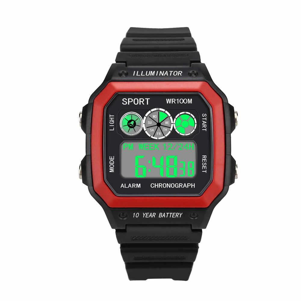 ผู้ชายหรูหรา Analog กองทัพทหารกีฬา LED กันน้ำนาฬิกาข้อมือผู้ชายนาฬิกา reloj hombre reloj ดิจิตอล hombre